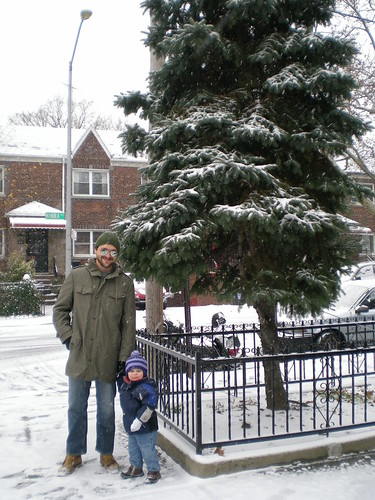 CW and J in the snow