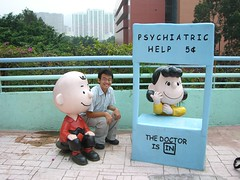 with Charlie Brown and Lucy van Pelt @ Snoopy'...