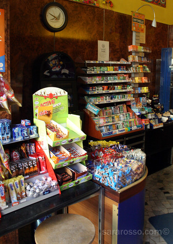 The Candy Display in a Tabaccaio in Italy