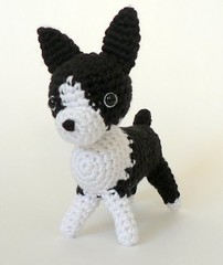 AmiDogs Boston Terrier crochet amigurumi by planetjune