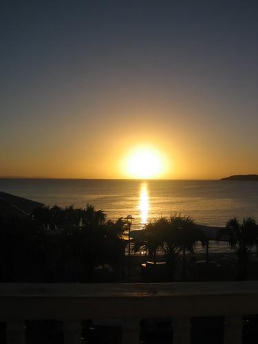 The sun setting on Culebra