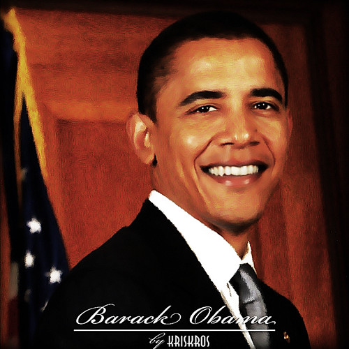 barack obama digitized reworked by Kris Kros.
