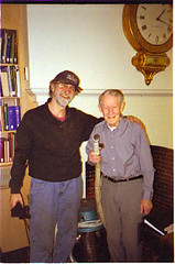 Mike Russo (l) and Roland Campbell at the Library