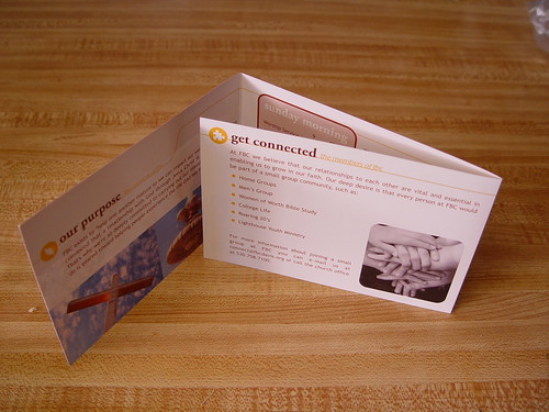 Brochure unfolded