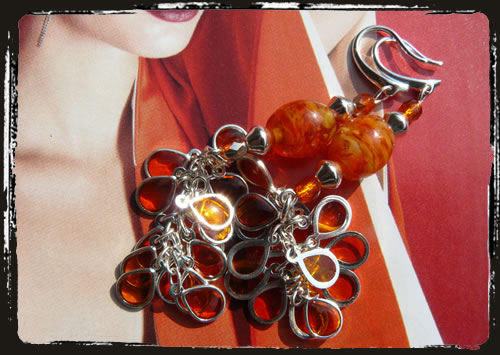Orecchini arancio - Orange earrings MEHDARP