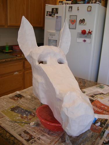 Donkey Mask, Paper Mache
