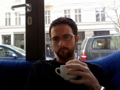 at Phil, in Vienna, drinkin' coffee