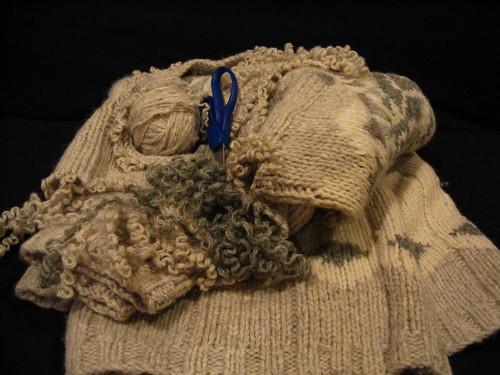 Sweater Frogging