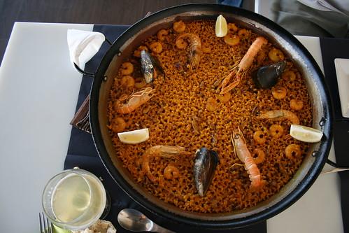 Paella de Mariscos en la Malvarrosa