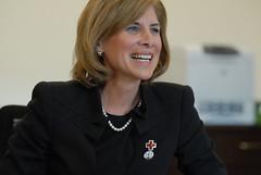 Gail J. McGovern meeting Red Cross staff