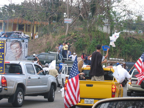 A political rally in Lares, Puerto Rico