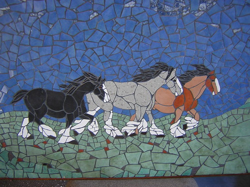 Image of: Wolf Mosaic Shire Horses Based On Judy Woods Original On Flickr Mosaicman2004 Mosaic Art Source Wordpresscom Mosaic Animals Mosaic Horse Art Sculpture Floors Walls