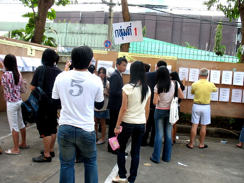 voters at Bangkok pre-elections