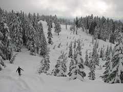 Burke Mtn snowshoe, 21 Mar 2008