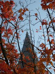 lone church spire