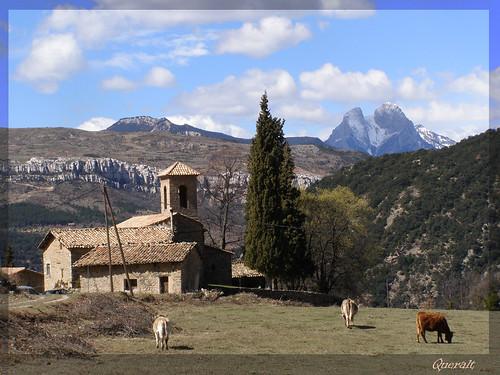 The church of Santa Coloma de Queralt, from a local postcard