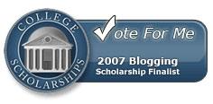College Scholarship Finalist Button