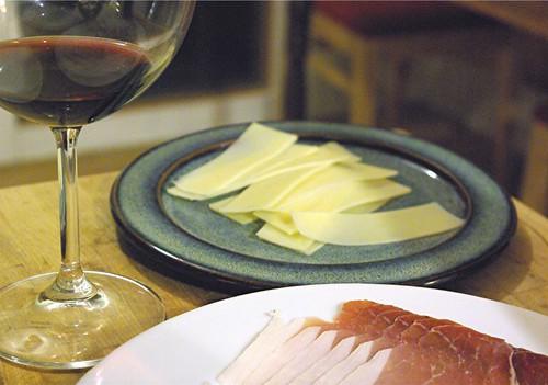 gruyere and prosciutto for crepes