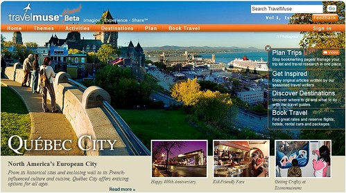 Travelmuse homepage