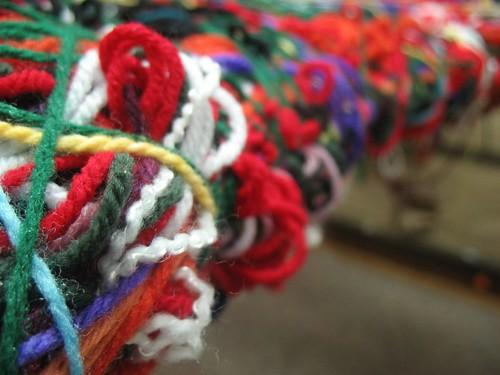 weaving a web at preschool
