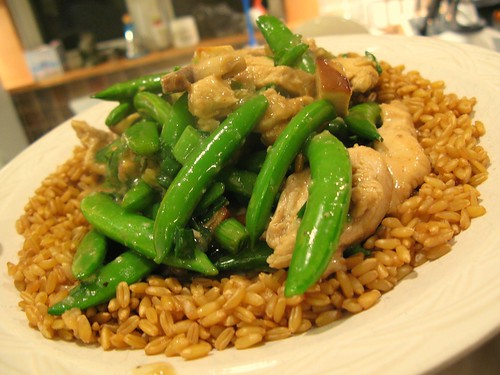 Moo Goo Gai Pan with Kamut grain by you.