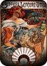 Biscuits lefevre 1896. Alphonse Mucha.