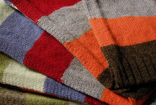 multi-hued skinny scarf