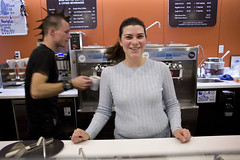 Jessica Gilmartin, co-owner of Fraiche Yogurt -- new Silicon Valley hot spot to hang out