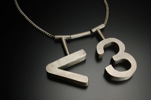 ASCII Heart Necklace
