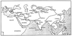 map of the silk roads