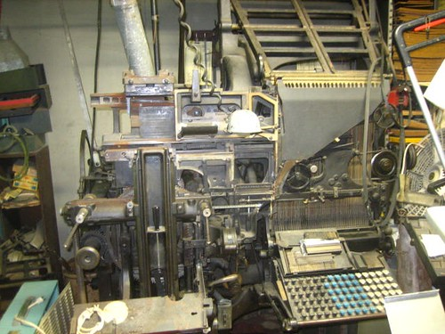 A Linotype typesetting machine