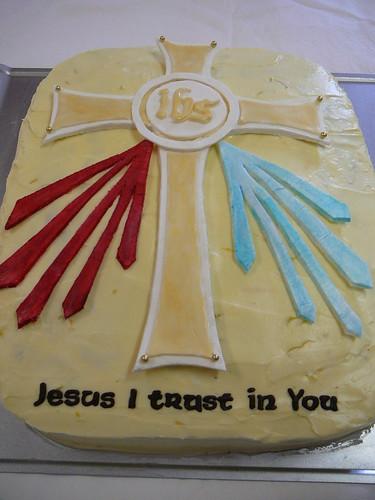 Divine Mercy Cake