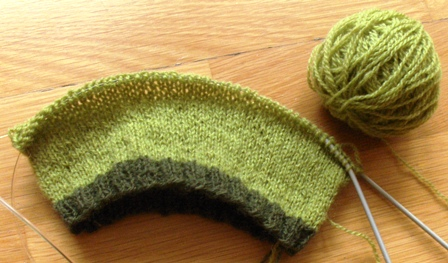 gift baby hat WIP