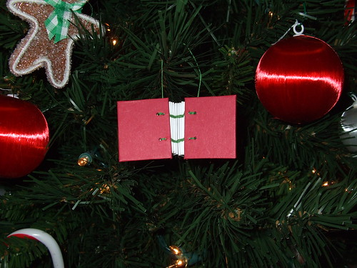 Red Tiny Book Ornament