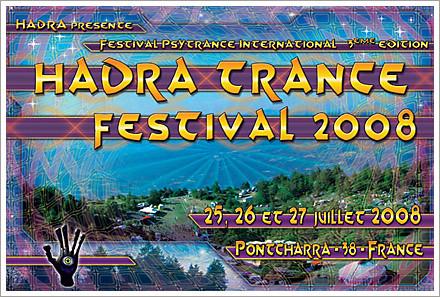 hadra psytrance festival 2008 flyer