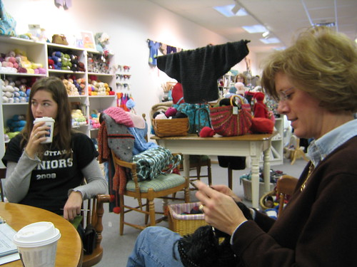 Knitting at Lizzie Anne's
