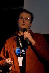 Patrick Lighty at Video Vortex, photo by Silvertje