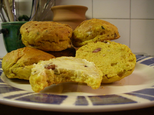 Pumpkin and feta scones