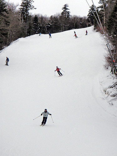 Upper World Cup trail on Okemo