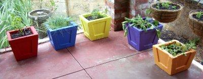 Five Concrete Pots