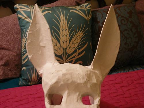 Donkey Mask, pre-paint