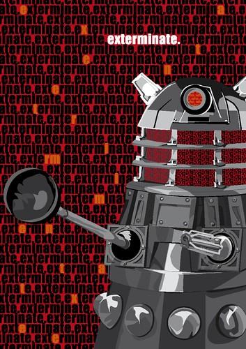 Dalek Postcard