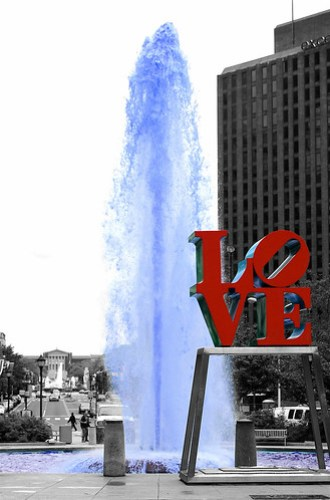 Love Park, Philly Museum of Art in background