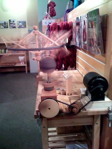 Motorized yarn winder @ Knit Purl