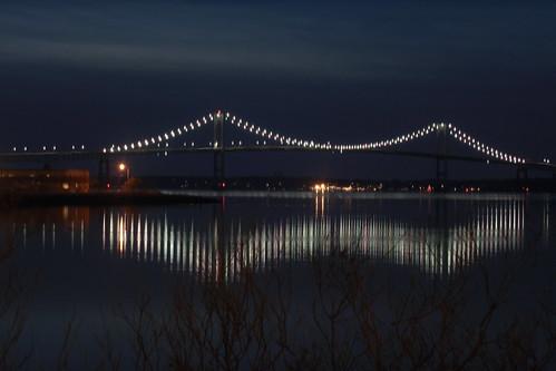 Pell Bridge by night