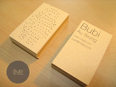 bubi business card by milkjar