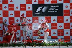 F1 podium - Silverstone 2007 - And now the Cha...