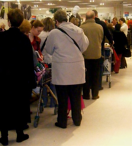Queueing at Marks and Spencers