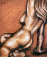 Stretch - 12x10 Oils on Canvas
