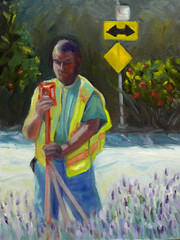 The Surveyor in the Lavender